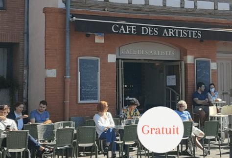 La devanture du café des artistes